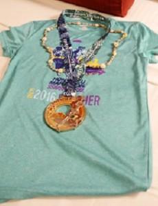完走Tシャツとメダル