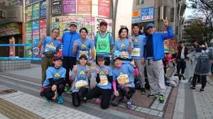 福岡マラソン2017 スタート前